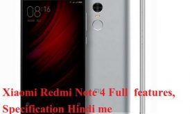 Xiaomi Redmi Note 4 full phone features, specification in hindi