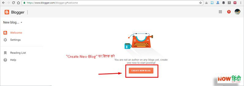 create New blog Website (Blog) Par Blog Kaise Bnaye (Complete Guide)1