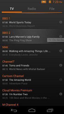 mobile me tv on go channal list