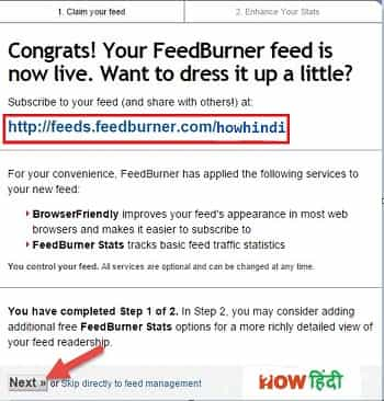 feedburner url address for blog to save