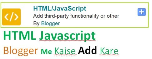 Blogger Me HTML JavaScript Add कैसे करें