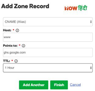 Godaddy Domain Add Zone