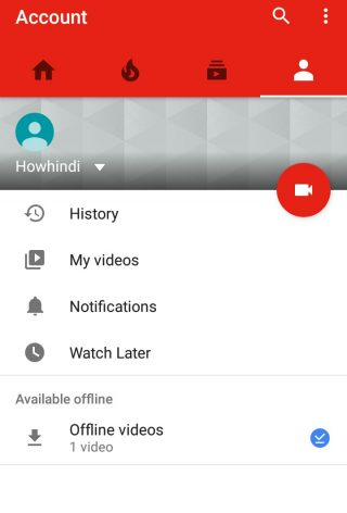 YouTube Offline save video list