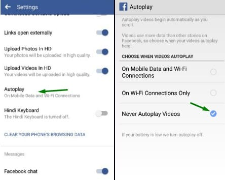 facebook auto video player stop fb trick tips