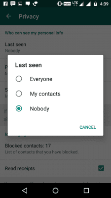 whatsapp last seen hide trick
