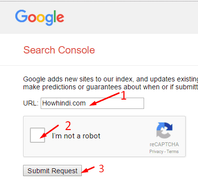 blog google search console submit hindi