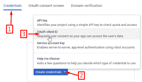 credentials OAuth client ID updraftplus plugin