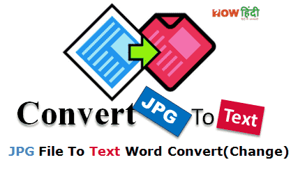 JPG Image To Text Convert