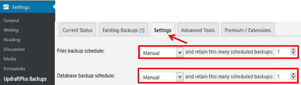 wordpress backup updraftplus plugin