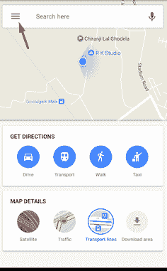 google map address place option