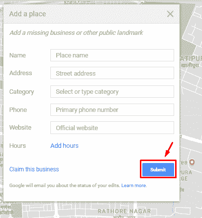 google maps new address set up live computer