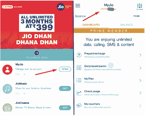 Jio Sim number internet data balance check ussd codes