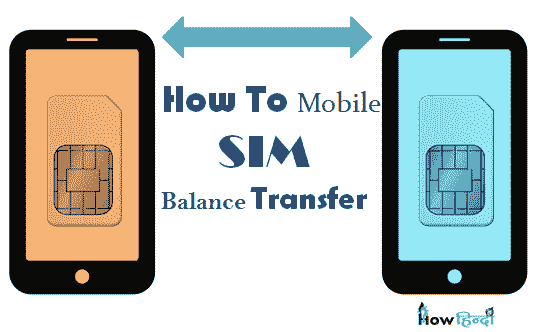 balance transfer mobile sim ussd codes