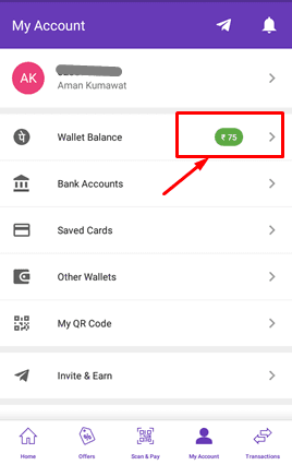 PhonePe Wallet Balance Free recharge trick hindi