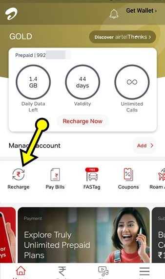 Airtel App Se Recharge Kaise Kare Hindi
