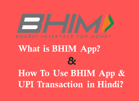 BHIM App Kya Hai Kaise use kare in Hindi