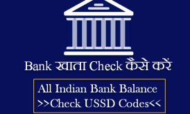 Bank Khata Check कैसे करें [All USSD Balance Equairy USSD Codes]
