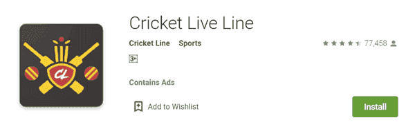 Cricket Live Line Dekhe wala App Hindi