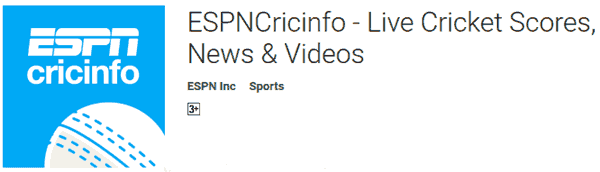 EPSNcricinfo Live Cricket Score App Hindi