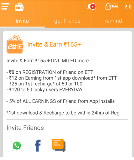 Earn Talktime Refer n earn Invite