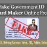 Fake Government ID Card Maker Online Free Aadhar PAN School Driving License Voter