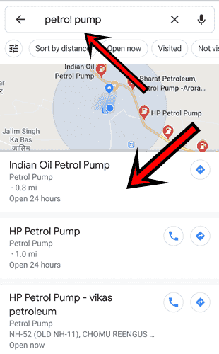 GPS Google maps search location dekhe pta kare