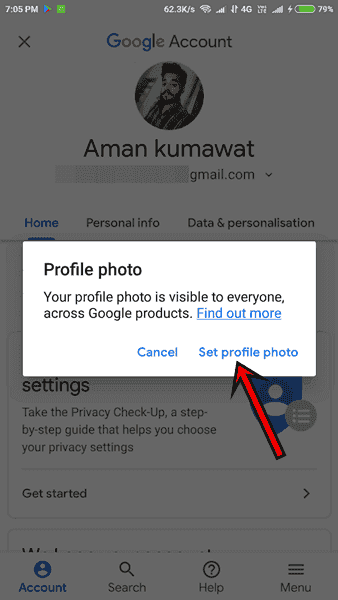 Gmail Set Profile Photp set Change kaise lagaye dale