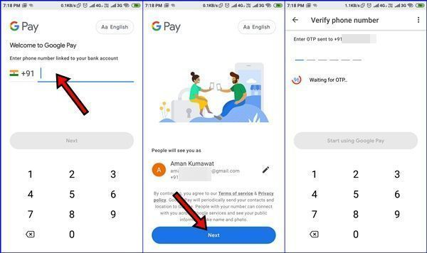 Google Pay Tez Account Money Transfer Bank