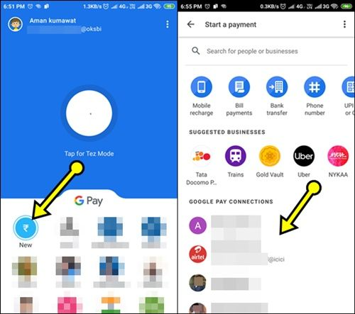 Google Pay To Google Pay Bank Balance Transfer
