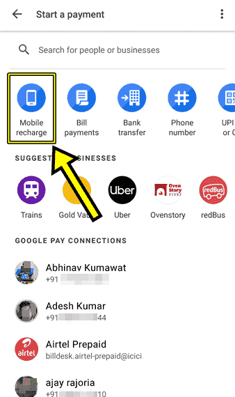 Google Pay se Mobile Recharge Kaise Karte hai
