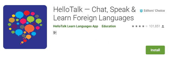 HelloTalk Chat Speak & Learn English sikhne wala Apps
