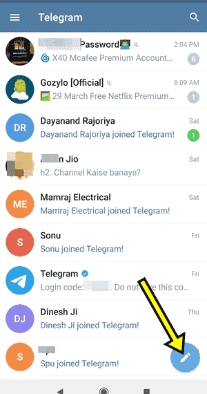 How to Send Message on Telegram in hindi