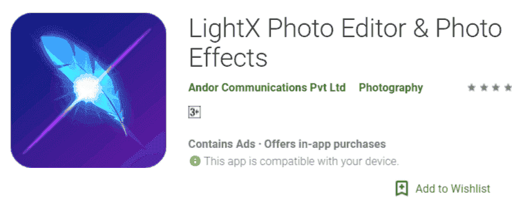 LightX Photo Editor & Image Effects