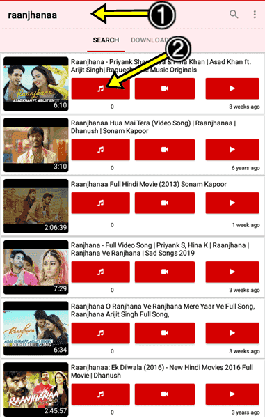 MP3 Song Download Kaise kare Gana Music Youtuber Downloader App RYT
