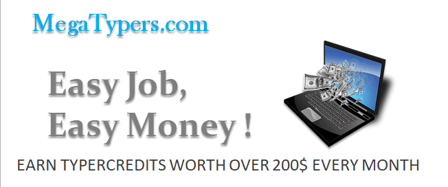 MegaTypers Online Paisa Income Typing Job paise kaise kamaye