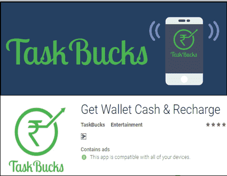 Paise Kamane Ke App. taskbucks earning app by referral friends.