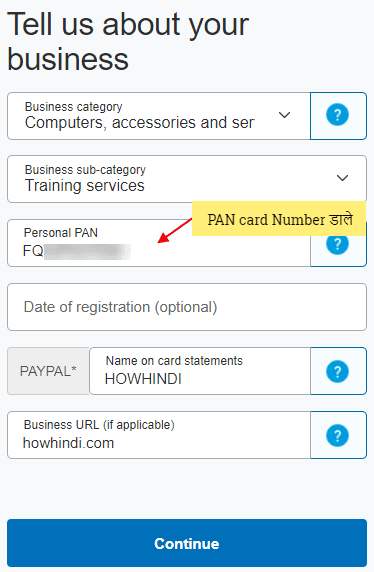 PayPal Business upgrade