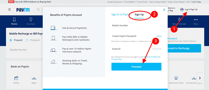 Paytm Account Create Hindi