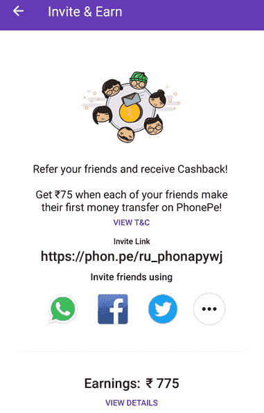 PhonePe Refer n Earn