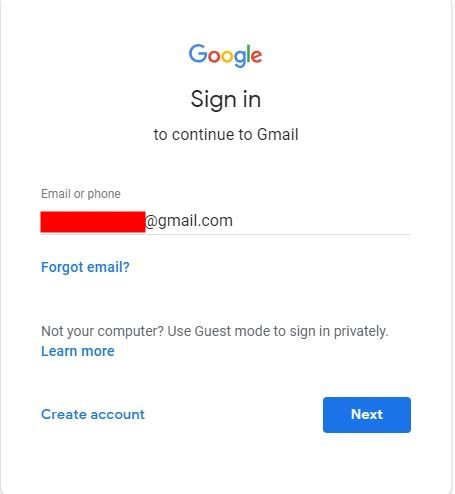 Recover Email ID Gmail Account