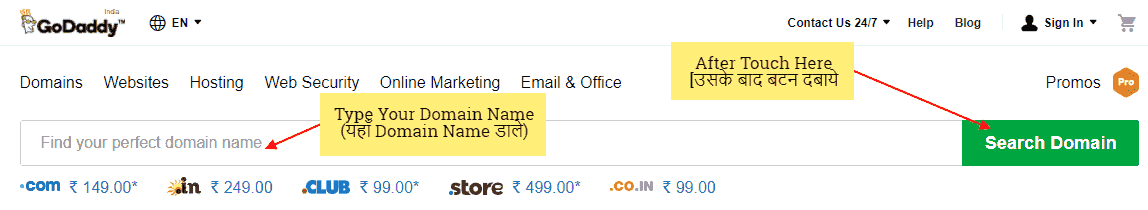 Register Domain Name in Hindi Language