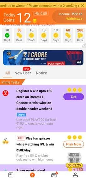Roz Dhan Earning App Free Recharge
