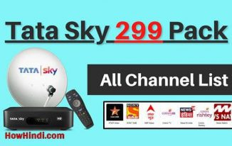 Tata Sky 299 Pack Channel List HD SD
