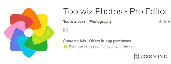 Toolwiz Photos Pro Editor Photo banane Wala App
