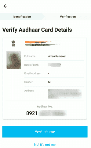Verify Aadhar Card Details