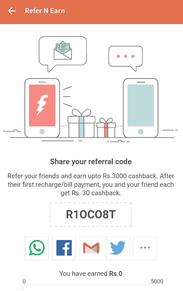 freecharge Refer n Earn