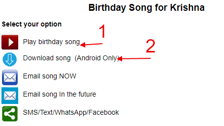 happy birthday song with name free download onine