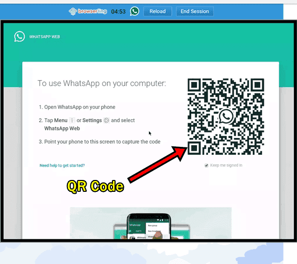 how to use whatsapp on jiophone hindi QR Code browserling
